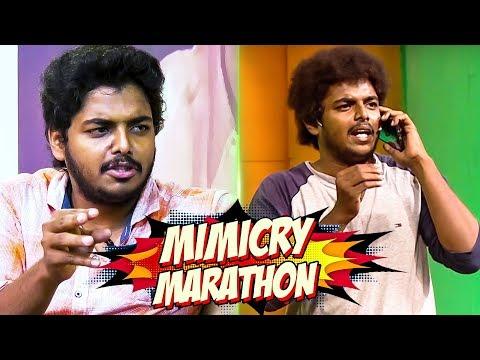 KPY Sathish Mimicry Marathon Performance | Superstar Rajinikanth to STR