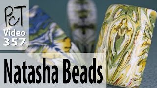 Making Natasha Beads From Polymer Cane Pieces