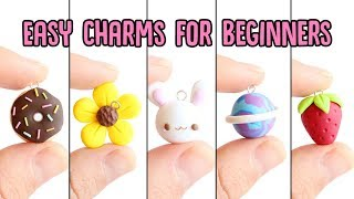 Easy Charms For Beginners│5 In 1 Polymer Clay Tutorial