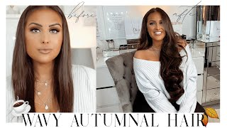 LONG WAVY AUTUMN/FALL HAIR | Clip In Extensions 2019