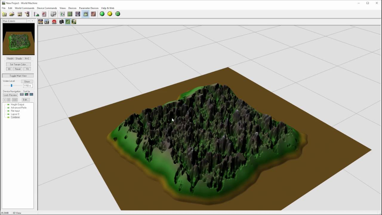 Blending terrain edges in World Machine