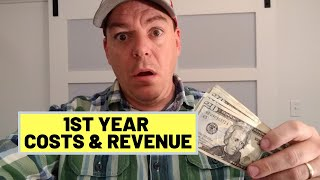 #95 Christmas Tree Farm FIRST YEAR Costs & Revenue
