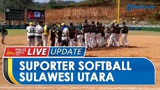 Keriuhan Pendukung Tim Softball Sulawesi Tenggara saat Pertandingan Lawan Banten, Sampai Bawa Gong