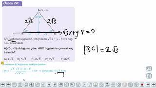 Eğitim Vadisi 11.Sınıf Matematik 7.Föy Doğrunun Analitik İncelenmesi 3 Konu Anlatım Videoları