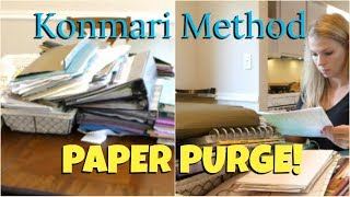 ✨Konmari Method: Paper Decluttering Before and After! ✨