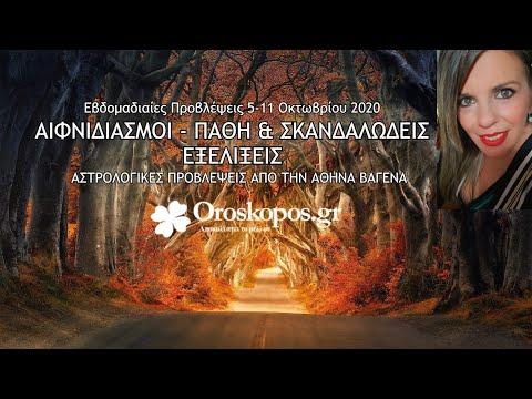 Εβδομαδιαίες Προβλέψεις 5-11 Οκτωβρίου 2020 από την Αθηνά Βαγενά σε βίντεο