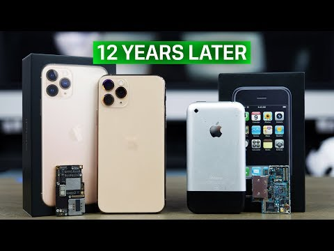 iPhone 11 Pro vs First iPhone! 12 Year Comparison