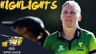 England Captain Knight Dominates KSL Opener | Storm v Diamonds | Kia Super League 2018 - Highlights