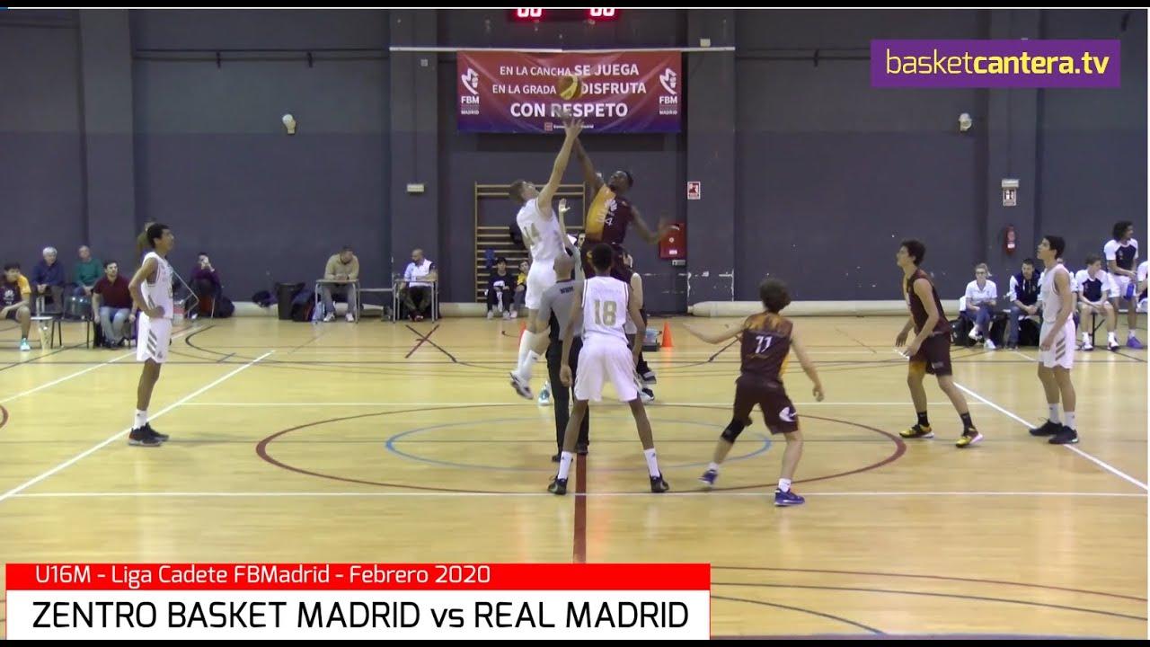 U16M - ZENTRO BASKET MADRID vs REAL MADRID.- Liga Cadete FBMadrid 2020 (BasketCantera.TV)