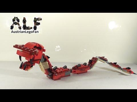 Vidéo LEGO Creator 31032 : Les créatures rouges