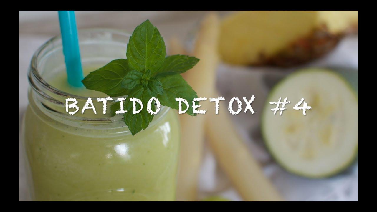 Batidos detox 4 | Batido de calabacin | Batidos para bajar de peso | Batido detox cena | Zumos detox