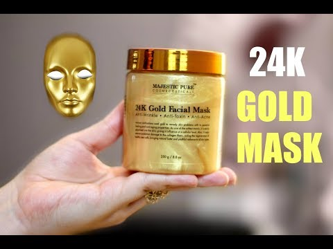 24K GOLD FACIAL MASK REVIEW! It Is Unbelievable How My Skin Looked ~Product Talks~