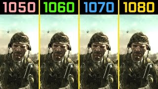 Call of Duty: World at War GTX 1050 Ti vs. GTX 1060 vs. GTX 1070 vs. GTX 1080 4K