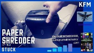 How To Fix Paper Shredder Jam Video