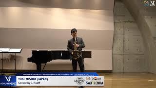 Yuki YOSHIO plays Sonata by J. Rueff #adolphesax