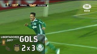 Gols - Peñarol (URU) 2 X 3 Palmeiras - Libertadores 2017