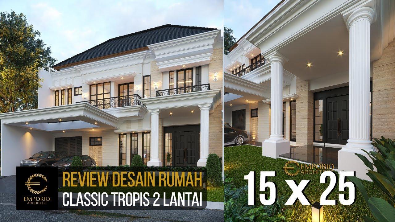 Video 3D Desain Rumah Classic 2 Lantai Ibu Yuli - Tangerang, Banten