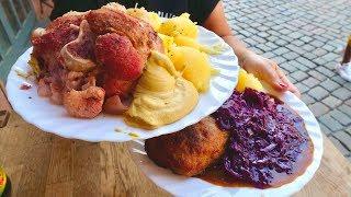 Traditional GERMAN FOOD In BERLIN | HUGE Eisbein And Boulette + Berlin Weisse | BERLIN FOOD