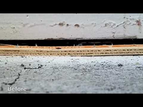 The concrete slab in this Rialto, CA home was sinking in the center, causing it to separate from walls and door frames. This time-lapse video shows the process of lifting and leveling the floors by injecting the revolutionary PolyLevel™ system under the slab. PolyLevel is a structural-grade polymer foam that, injected under concrete slabs through dime-size holes, will fill gaps and voids and expand, raising the slab back to its original position quickly and precisely. Contact us to learn more or to schedule your Free Estimate!