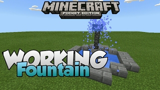 Minecraft PE | How To Make a Working Fountain! | Command Block creation