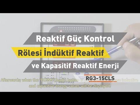 RG3 - 15 CLS Reaktif Güç Kontrol Rölesi - İndüktif Reaktif ve Kapasitif Reaktif Enerji