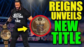 Roman Reigns Unveiling NEW WWE Universal Championship Belt After DESTROYING Old Title Leaked!