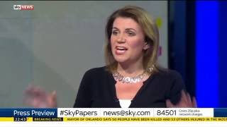 Sky News Press Preview 12/06/16 - Heated Orlando LGBT/Owen Jones walks out