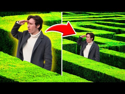 HIDE AND SEEK IN THE WORLDS BIGGEST MAZE! CHALLENGE