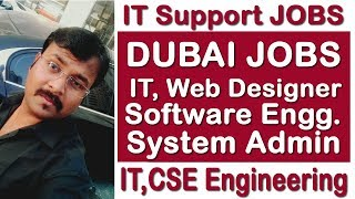 IT JOBS IN DUBAI, SOFTWARE, HARDWARE, WEB DESIGNER, IT SUPPORT | HINDI URDU | TECH GURU DUBAI JOB