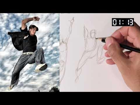 Figure Drawing Gesture Practice 3