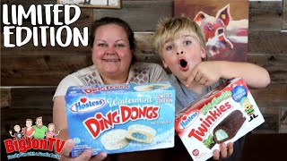 Limited Edition Hostess Twinkies And Ding Dongs || Taste Test Tuesday