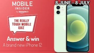 How To Tag Amazon The Really Tough Mobile Quiz On Instagram | Answers And Win IPhone 12 | 8June 2021