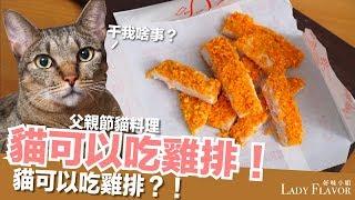 貓可以吃雞排!真的!父親節貓料理【好味貓廚房】EP107