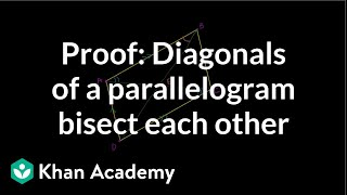 Grade 9 Math | Proof: Diagonals of a Parallelogram | Khan Academy