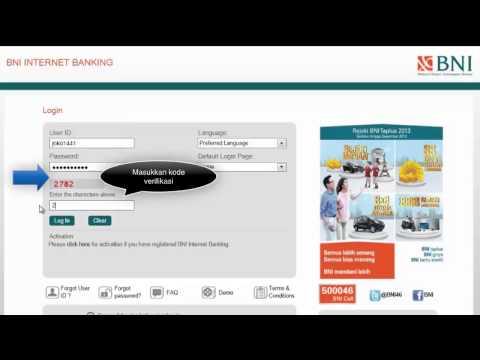 Cara Akses Login/ Masuk BNI INTERNET BANKING