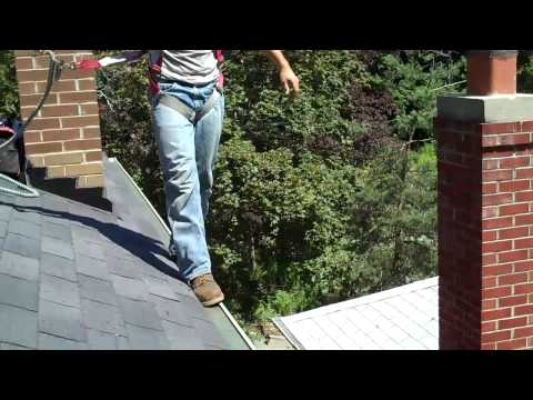 Walking On Eavestrough/Gutter Test