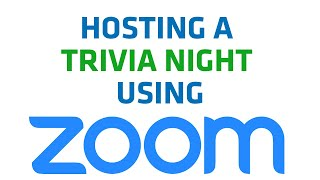Hosting A Trivia Night or Pub Quiz Remotely Over Zoom