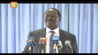 CORD leader, Odinga, criticizes government's war on graft