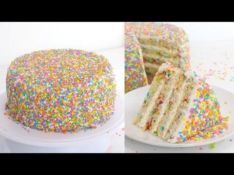 Video EASY! Confetti Sprinkle Cake | RECIPE