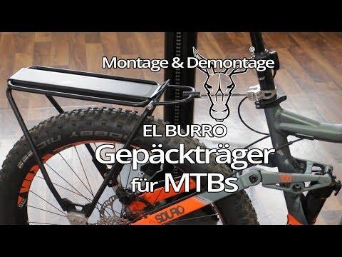 EL  BURRO | Gepäckträger mit Federung für eMTBs | Montage & Demontage