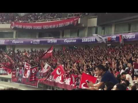 ACMilan (vs real madrid)fans in Shanghai