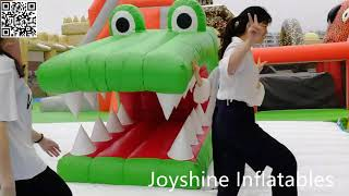 Inflatable amusement park giant inflatable bouncer playground youtube video