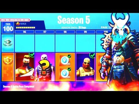 Fortnite Season 5 Max Battle Pass Unlocked New Skins