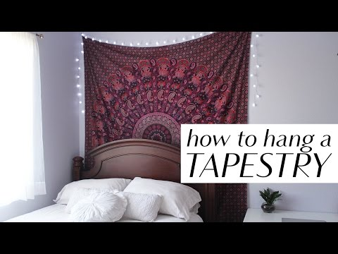 How to Hang a Tapestry in 3 Easy Ways
