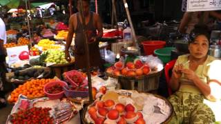 Tour of an Outdoor Market in Yangon, Myanmar