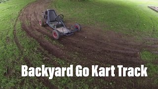 DIY Backyard Go Kart Track.