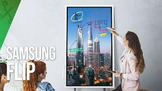 Una PIZARRA INTERACTIVA de 55 pulgadas, así es Samsung Flip