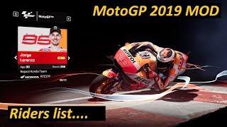 MotoGP 2019 MOD | Riders list 2019  | MotoGP  | Moto2  | Moto3  | PC GAME