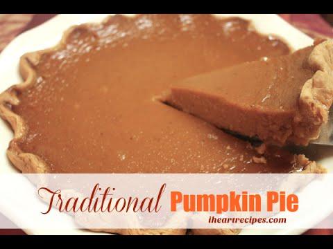 Traditional Pumpkin Pie – I Heart Recipes