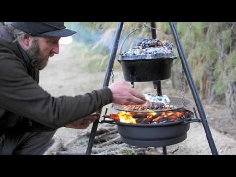 The Ultimate Campfire Kitchen.. Introducing the CampervanCulture.com Roadii Lightweight Grill